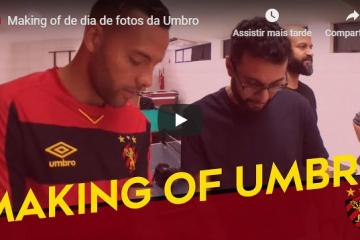 Making of de dia de fotos da Umbro